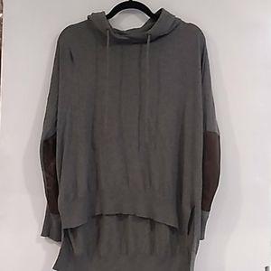 Lauren, Ralph Lauren• grey high low hooded shirt